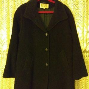 Bill Blass Black Jacket 100% Merino's Wool Italy